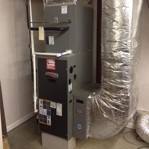 gas furnace installation in Hartley